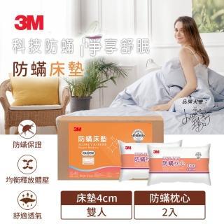 【3M】防蹣床墊-低密度標準型-雙人(加贈防蹣枕心2入)