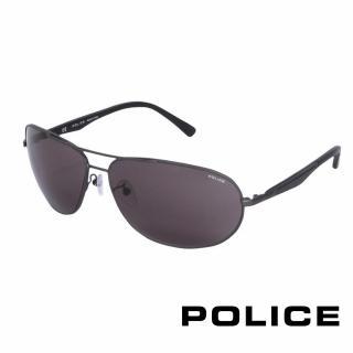 【POLICE】都會時尚飛行員太陽眼鏡(鐵灰色 POS8757-0627)