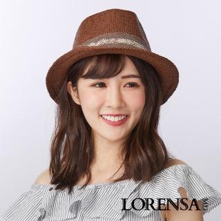 【Lorensa蘿芮】中性款 瀟灑風尚遮陽紳士禮帽(咖啡色)