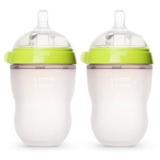 【comotomo】矽膠奶瓶二入250ML(綠色)
