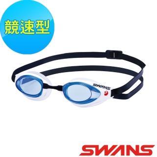 【ATUNAS 歐都納】SWANS 競速型泳鏡 防霧四倍 3D 水上 戶外SR-71N 藍