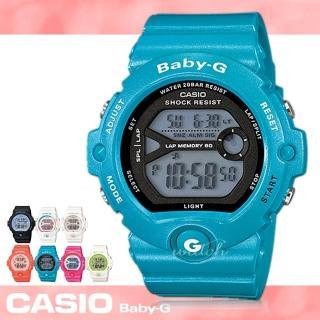 【CASIO卡西歐BABY-G系列】甜蜜女孩運動錶_學生錶_慢跑錶_中性錶_防水(BG-6903)