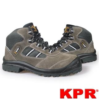 【KPR尊王】半高筒戶外休閒型透氣工作鞋(M-027G灰色/男女款)