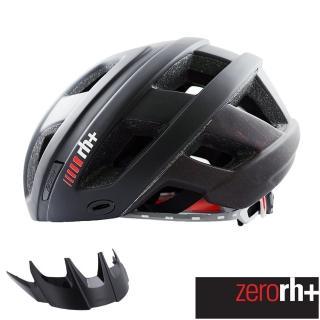 【ZeroRH+】自行車安全帽 CAMINHO系列附遮陽板(黑/紅 EHX6063 18)