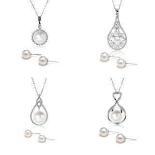 【大東山珠寶】南洋貝寶珠墬飾耳環套組 典雅美人(第一夫人系列)