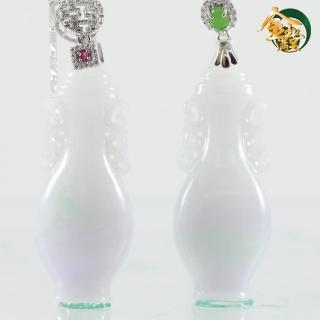 【金玉滿堂】天然雅致春彩翡翠寶瓶