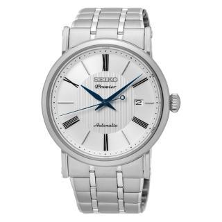 【SEIKO Premier】典藏尊榮機機械錶(白面/4R35-01C0S)
