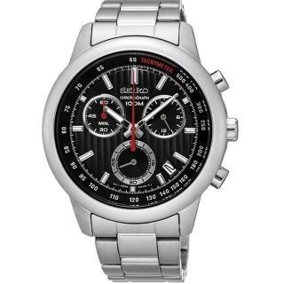 【SEIKO CS】線條時尚計時腕錶(8T68-00A0D/ SSB205P1)