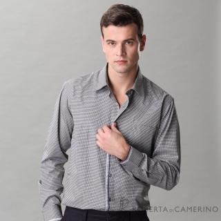 【ROBERTA諾貝達】台灣製 嚴選穿搭 簡約格紋長袖襯衫(黑白)