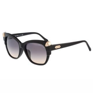 【Roberto Cavalli】-蛇頭造型 太陽眼鏡(黑色)