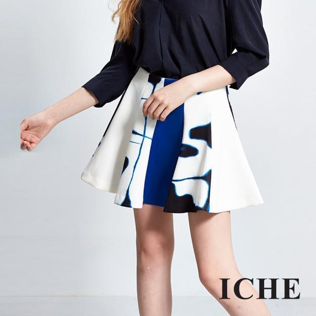 【ICHE 衣哲】暈染印花傘狀波浪短裙限量搶購