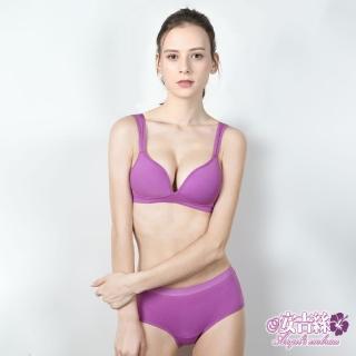 【安吉絲】《自遊著感》輕盈透氣無鋼圈內衣組/A-D(紫色)