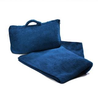 【CABEAU】保暖飛機毯 藍色