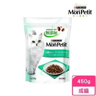 【MonPetit 貓倍麗】日式乾糧成貓飼料《海鮮拼盤》450g