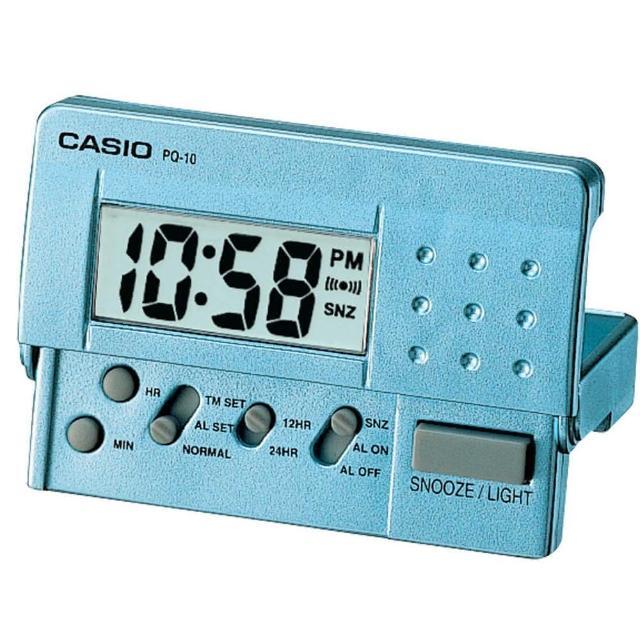 【CASIO】簡單攜帶款數位液晶鬧鐘(PQ-10D-2)