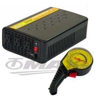 1200W+USB大功率電源轉換器+2入高級胎壓表