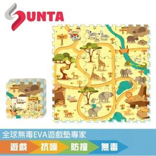 【SUNTA拼接樂扣墊】動物樂園-無毒EVA遊戲墊-32*32*1cm 9片裝(地墊/ 爬行墊/ 遊戲區/ 滿月/ 送禮)