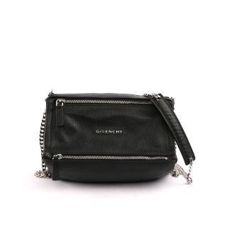【GIVENCHY】Pandora潘朵拉山羊皮小型鏈帶crossbody(黑色)