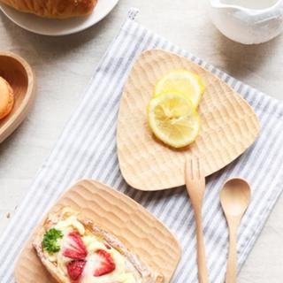 【Homely Zakka】木趣食光木質小碟(三角鑿痕)