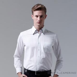 【ROBERTA諾貝達】台灣製 合身版 休閒百搭長袖襯衫(白色)