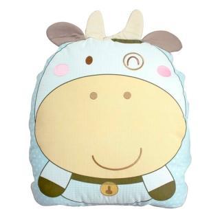 【GMP BABY】台灣製牛寶寶造型收納被(90*120 藍)