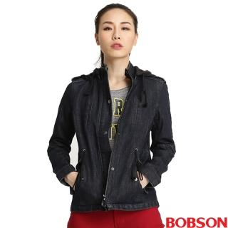 【BOBSON】女款熱感IN牛仔外套(藍32116-52)