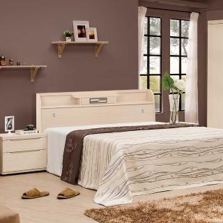 【樂和居】小抽白橡5尺雙人床頭箱二色可選(不含床板、床墊)