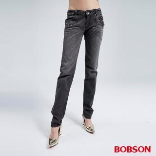 【BOBSON】女款雪俏小直筒褲(8025-87)