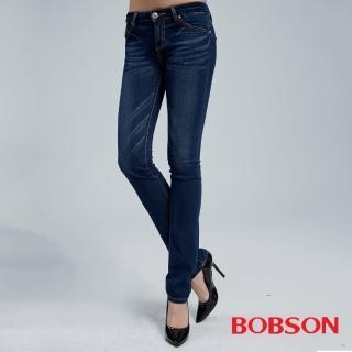 【BOBSON】女款超彈力小直筒褲(8035-53)