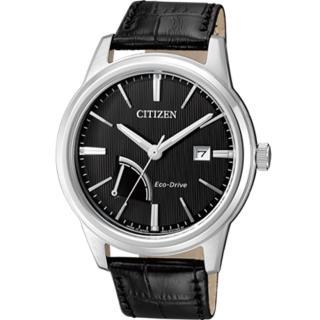 【CITIZEN 星辰】Eco-Drive 能量顯示紳士腕錶(AW7000-07E 黑)