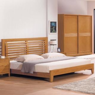 【時尚屋】米堤柚木色5尺床片型雙人床(G17-A002-1)