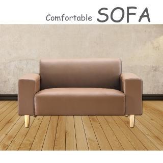 【時尚屋】蘿絲卡其色特殊透氣皮雙人座沙發(U6-919-602)