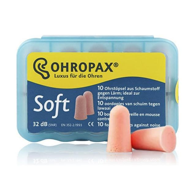 【Ohropax】Soft 隔音消音抗噪舒適耳塞 德國原裝進口 CE歐盟認證