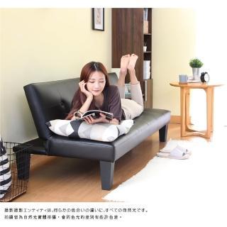 防疫必備 居家辦公【RICHOME】簡約風舒適皮面沙發床/雙人沙發/皮沙發/床墊(2色)