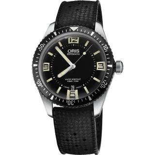 【ORIS】Divers Sixty-Five 1965復刻潛水機械錶-黑/40mm(0173377074064-0742018)