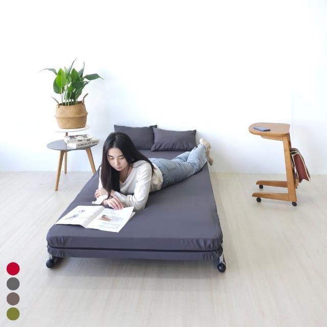 【BN-Home】PHIL菲爾六段式摺疊沙發床單人加大(單人沙發/沙發床/獨立筒床墊)