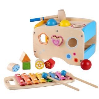 boby木製三合一敲琴敲打台(木製玩具)