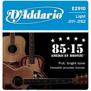 【美佳音樂】D'Addario EZ910 民謠吉他套弦(11-52)