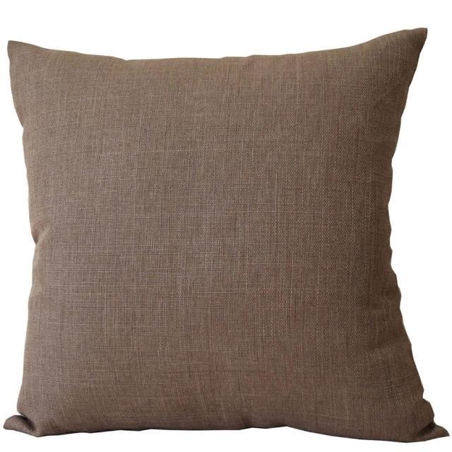 【宜欣居傢飾】亞麻棕-抱枕*2入(靠墊、靠枕、腰枕、午安枕、沙發絨布*YX10421)/