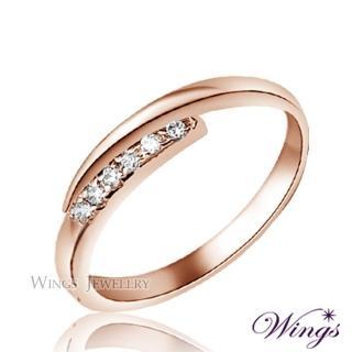 【WINGS】星盼 纖細美麗的優雅 精鍍玫瑰金戒指 尾戒 聖誕(可做尾戒 對戒)