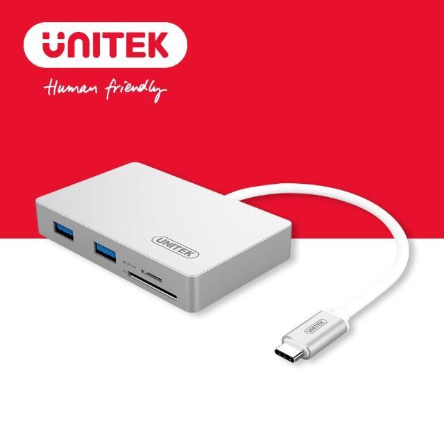 【UNITEK 優越者】USB3.1Type-c轉USB3.0HUB+讀卡機(Y-9319)