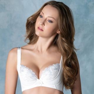 【LADY】安布羅莎系列 刺繡機能調整型內衣 G罩(暮光白)