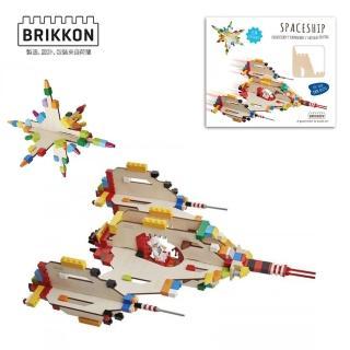 【BabyTiger虎兒寶】荷蘭 BRIKKON(益智遊戲板 飛行太空船)