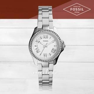 【FOSSIL】氣質首選_不鏽鋼錶帶_羅馬數字_氣質女錶(AM4576)