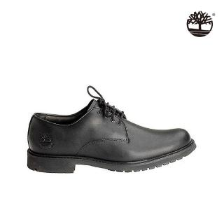 【Timberland】男款黑色霧面皮鞋