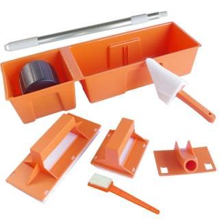 DIY簡易油漆刷具超值7件組(含加長伸縮桿)
