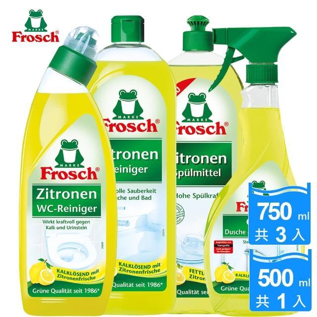 【德國Frosch】檸檬清香家用清潔特惠4件組