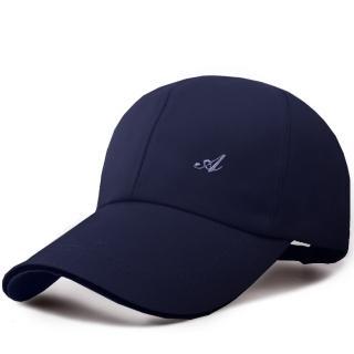 【活力揚邑】防風防曬舒適透氣戶外運動字母刺繡棒球帽鴨舌帽(藏青)
