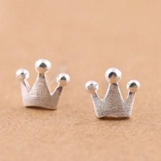 【米蘭精品】耳環流行銀飾品耳針式耳飾(時尚可愛皇冠情人節生日禮物首選73ag43)
