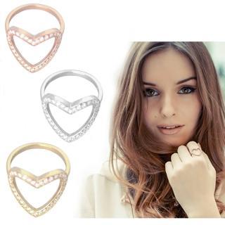 【Anna Lou Of London】倫敦品牌 heart ring白鑽細緻愛心戒指(絕版品 售完不補)